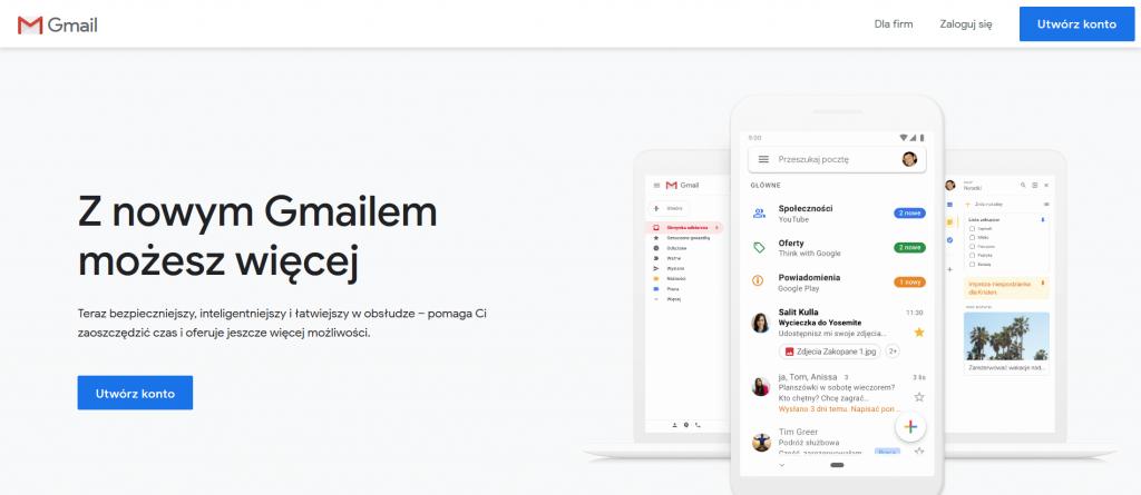 gmail rejestracja