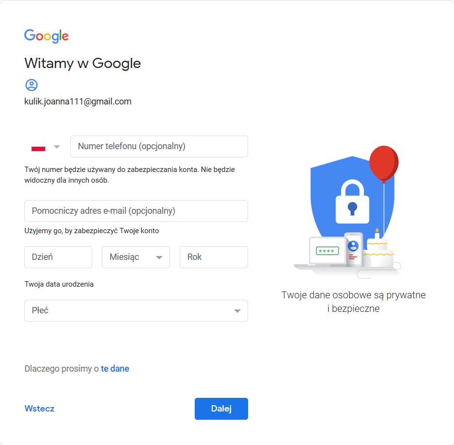 gmail rejestracja poczta