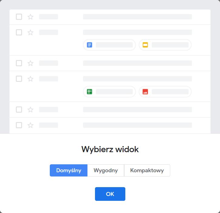 gmail wygląd poczty