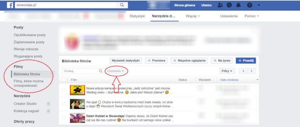 jak pobrać film z facebooka