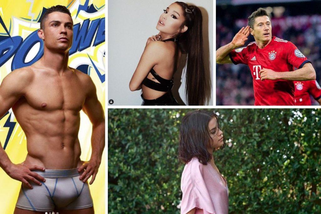 najpopularniejsi celebryci na instagramie