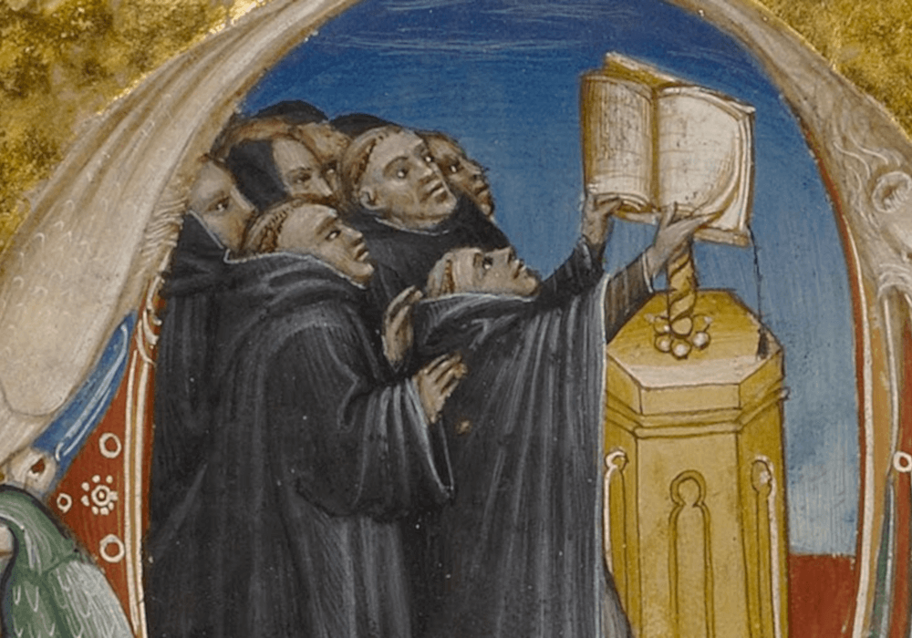 łacina w języka polskim mnisi