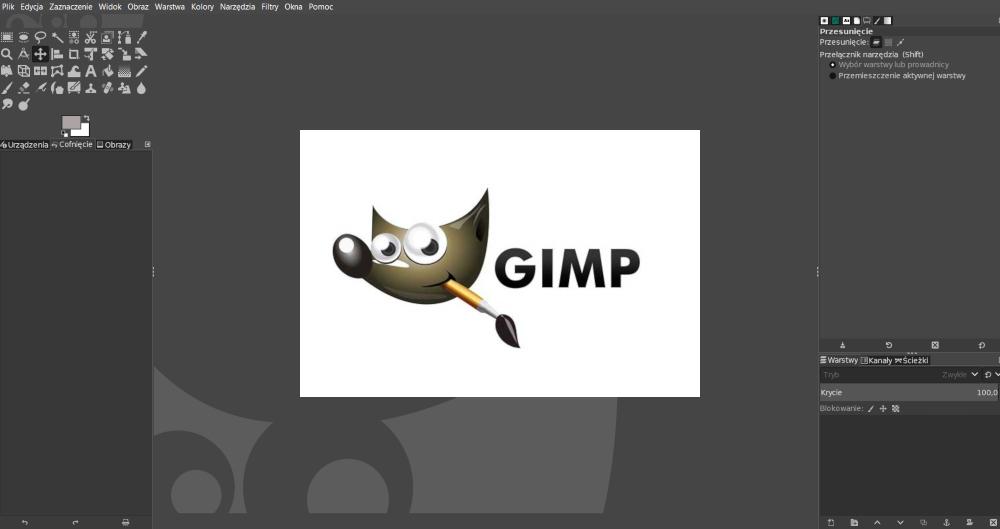 gimp widok