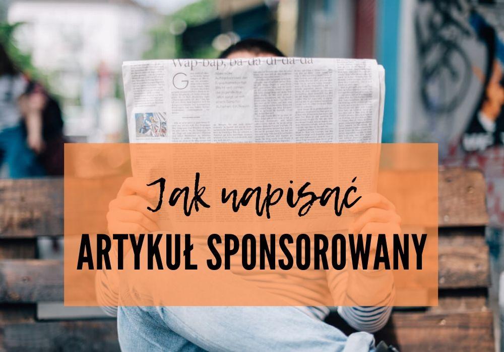 jak napisać artykuł sponsorowany